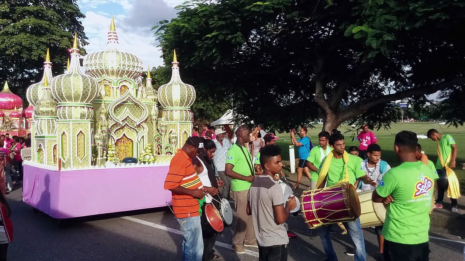 Colourfule tadja led by Tassa drummers