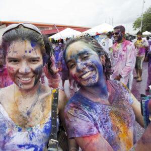 Participants at the colourful Phagwa festival. (Photo: Tourism Development Company Limited)
